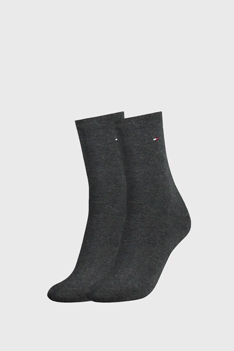 2 PACK тъмносиви дамски чорапи Tommy Hilfiger Casual