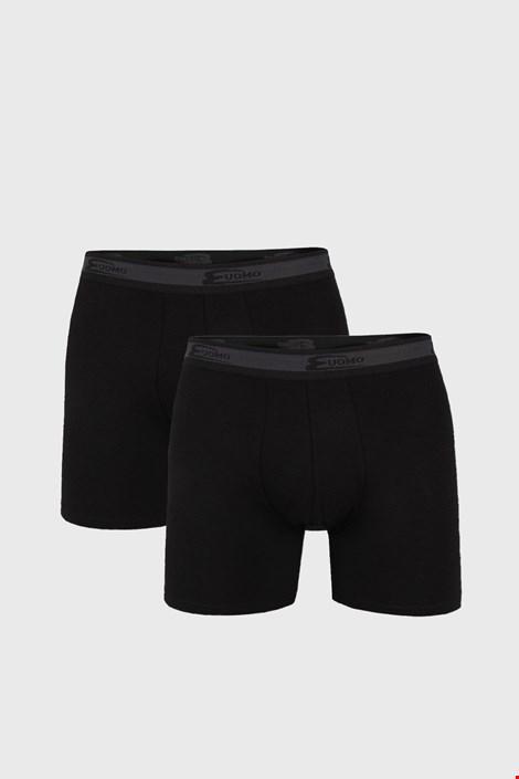 2 PACK черни боксерки с по-дълъг крачол UOMO