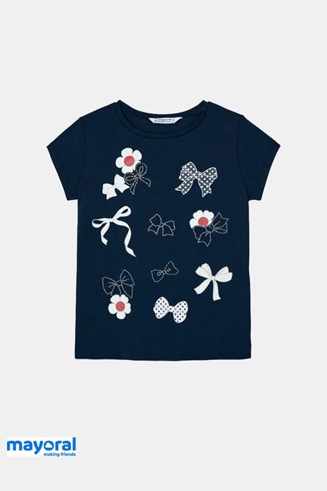 Тениска за момичета Mayoral с панделки