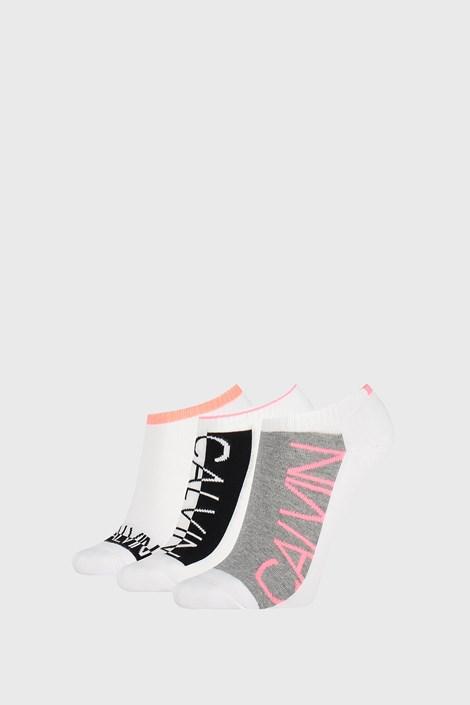 3 PACK бели дамски чорапи Calvin Klein Nola