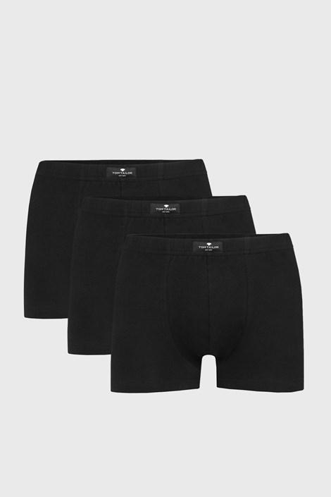 3 PACK черни боксерки Tom Tailor Hip