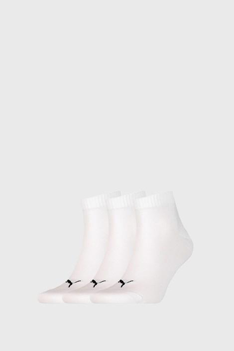 3 PACK бели чорапи Puma Quarter Plain