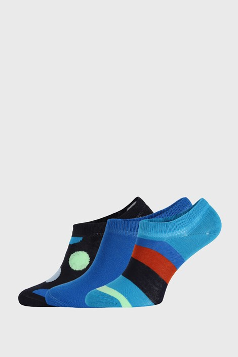 3 PACK чорапи Happy Socks Stripes No Show