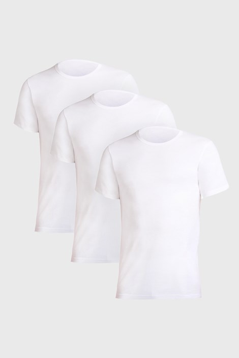 3 PACK бели фланели Uomo Comfort
