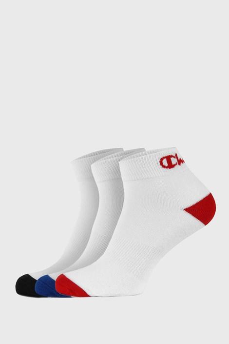 3 PACK бели чорапи до глезена Champion