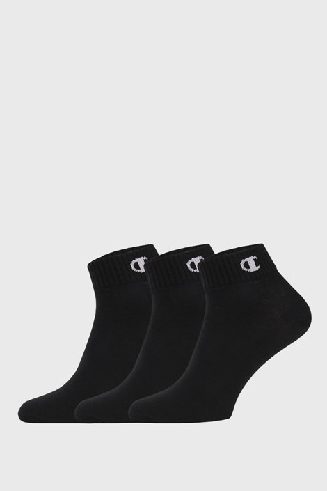 3 pack черни чорапи до глезена Champion