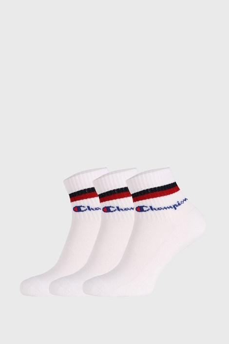 3 PACK bílých чорапи Champion Classic stripes