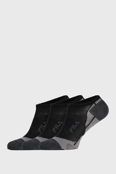 3 PACK черни чорапи FILA Invisible