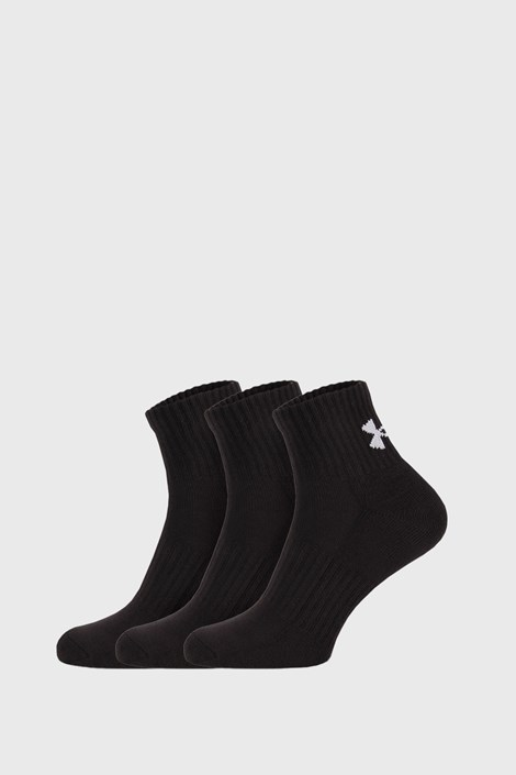 3 PACK черни чорапи Core Under Armour