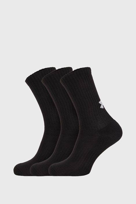 3 PACK по-дълги черни чорапи Core Under Armour