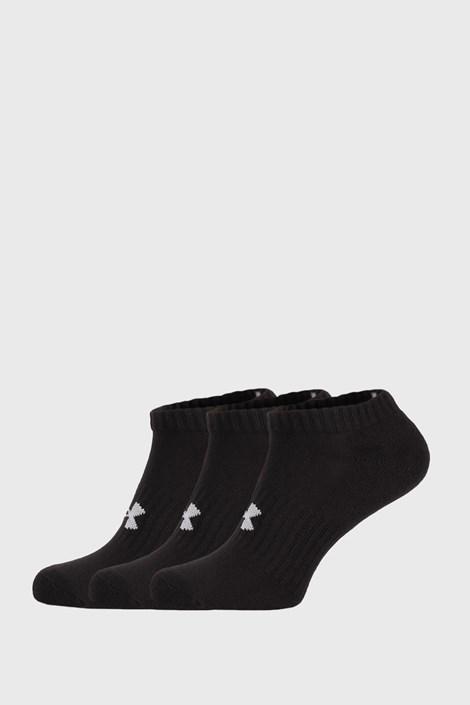3 PACK къси черни чорапи Core Under Armour