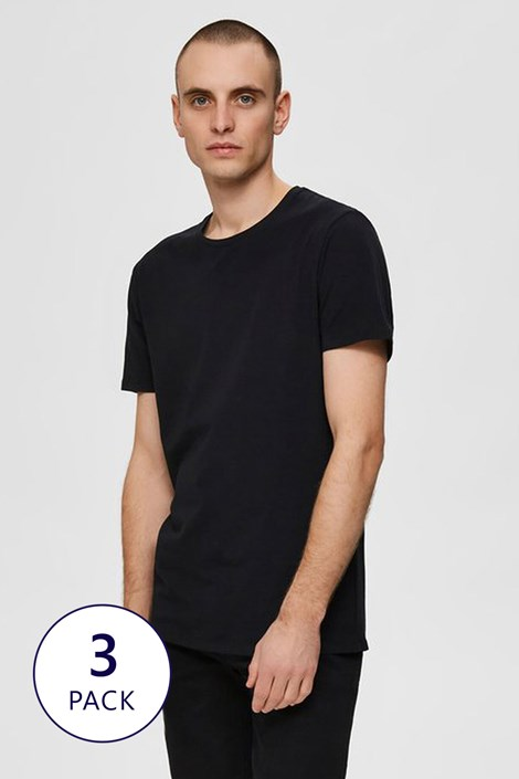 3 PACK тениски Selected Homme New Pima