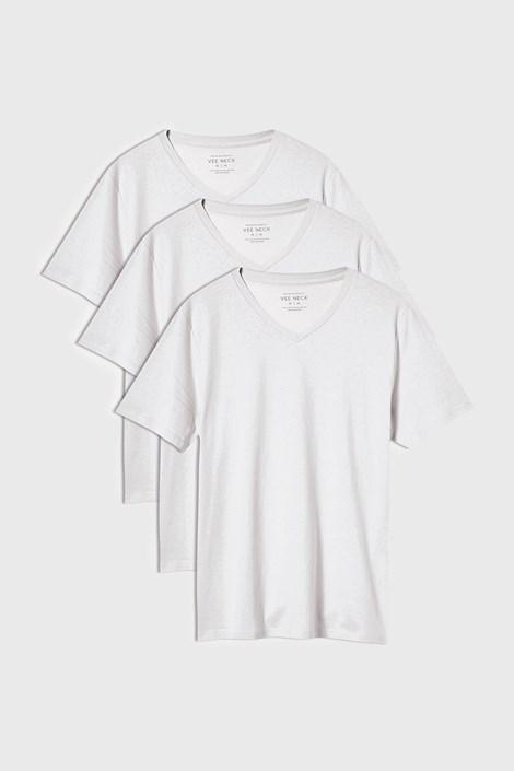 3 PACK бели тениски Kane
