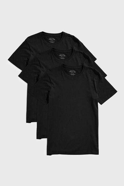 3 PACK черни тениски Austin