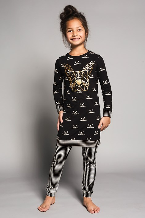 Пижама за момичета Bulldogs