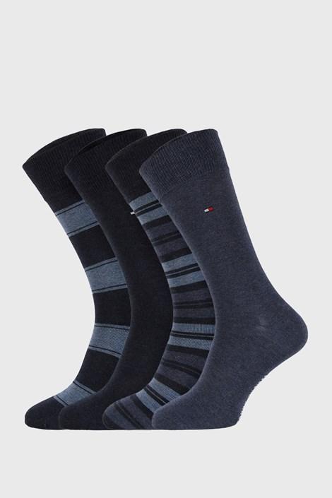 4 PACK сини чорапи Tommy Hilfiger