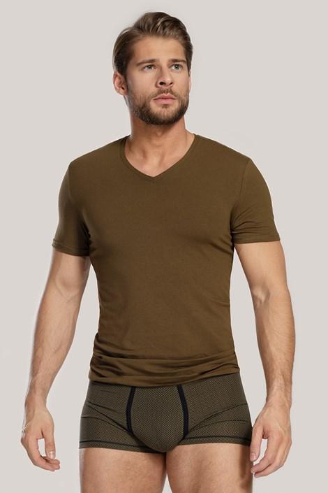 Мъжки сет от тениска и боксерки Dandy зелен