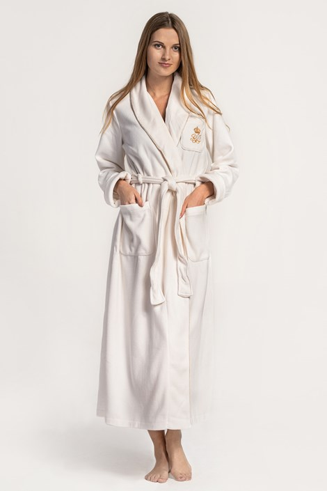 Дамски халат Ralph Lauren крем