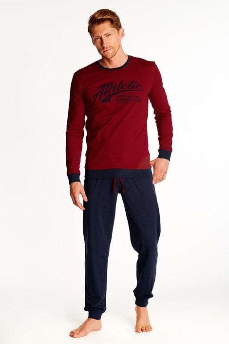 Червено-черна пижама Optim