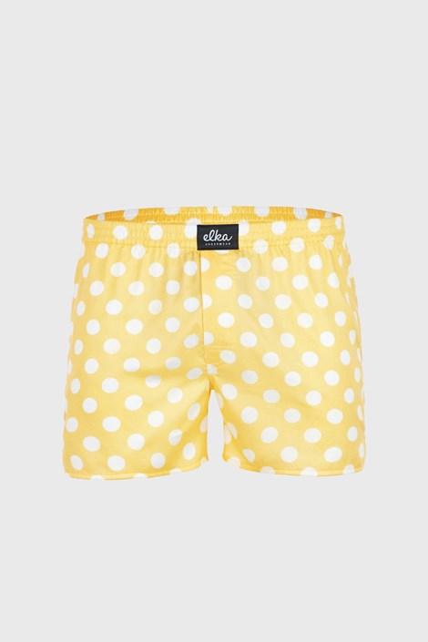 Жълти шорти ELKA LOUNGE на точки