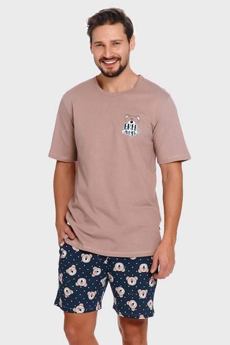 Бежово-синя пижама Bear