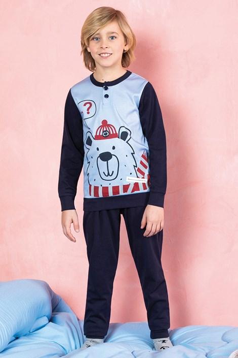 Пижама за момчета Bear синя