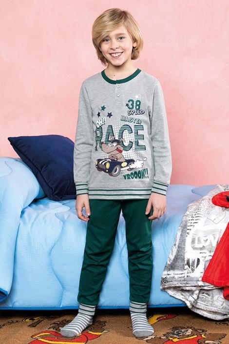Пижама за момчета Race зелена