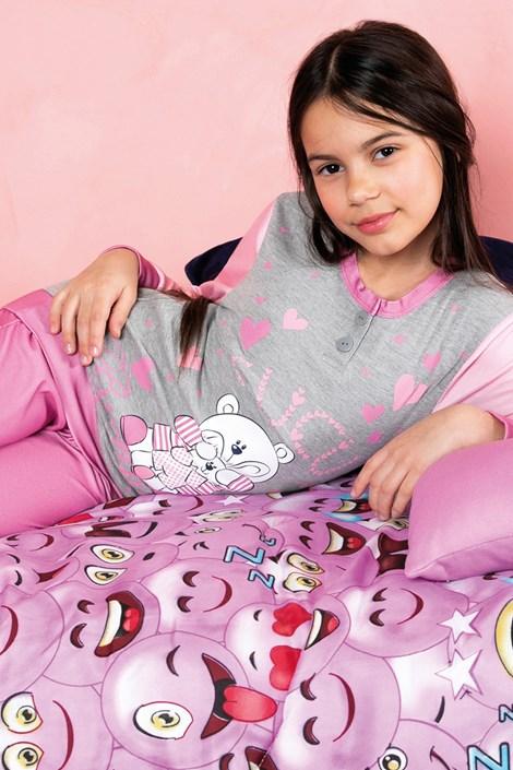 Пижама за момичета Biongiorno розова