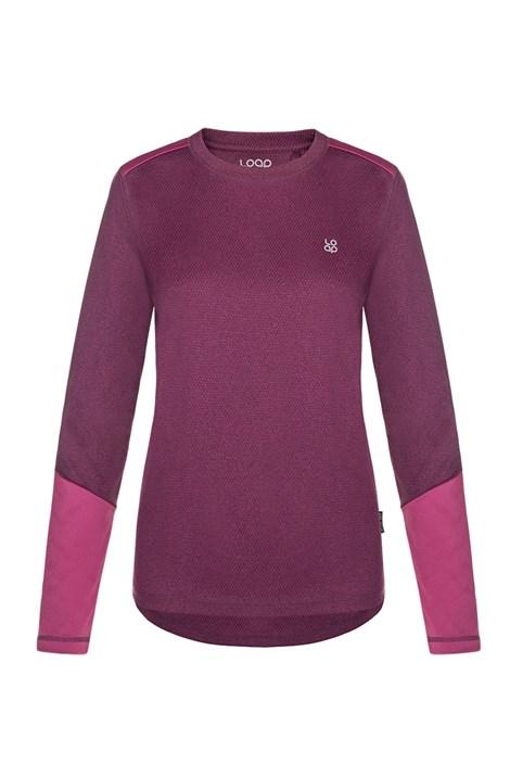 Дамска виолетова функционална блуза LOAP Peony