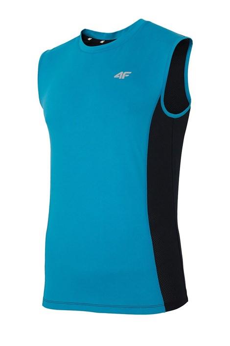 Мъжка спортна фланела без ръкави 4F Dry Control Blue
