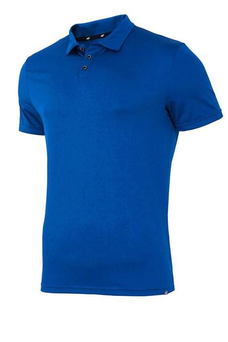 Мъжка фланела с яка 4F Dry Control Blue
