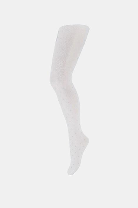 Бял чорапогащник за момичета Dots
